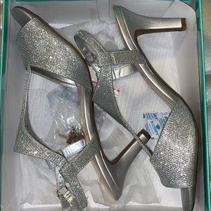 Sparkly/silver Marbella heels
